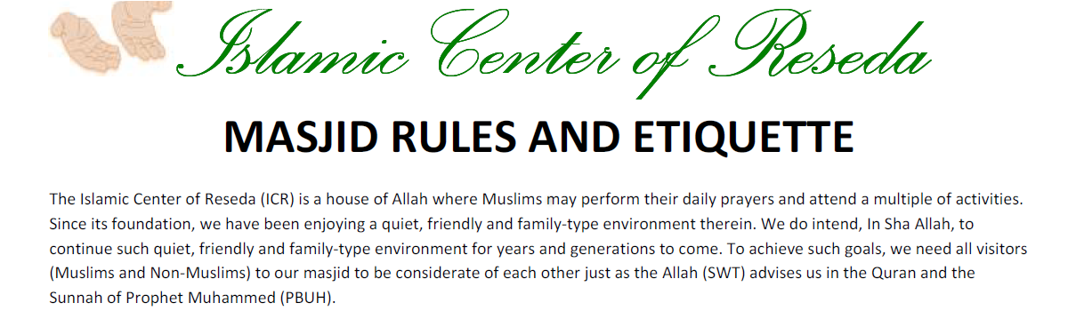 Masjid-Reseda-Rules-and-Etiquette